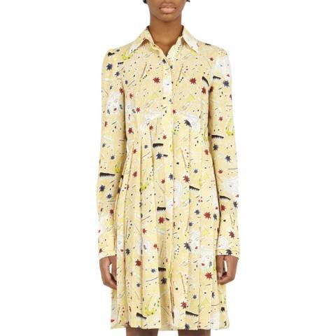 VICTORIA, VICTORIA BECKHAM Jazzy Dream Multi Pleated Button Front Dress
