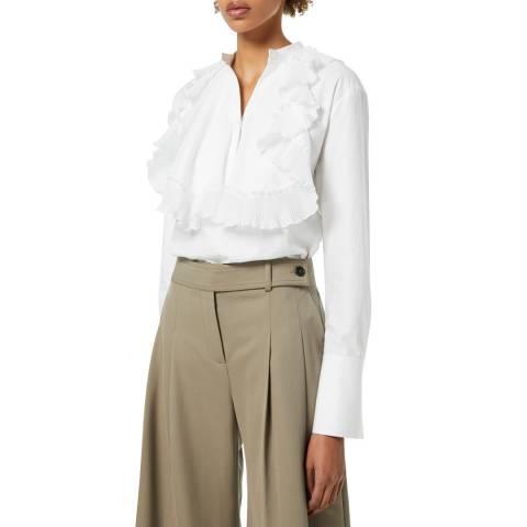VICTORIA, VICTORIA BECKHAM White Pleated Bib Organic Cotton Shirt