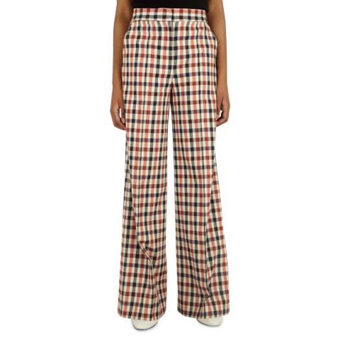 VICTORIA, VICTORIA BECKHAM Multi Checked Cotton Pyjama Trousers