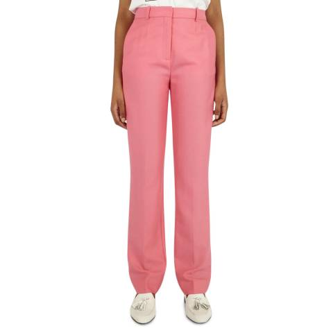 VICTORIA, VICTORIA BECKHAM Candy Pink Wool Trousers