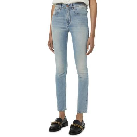 VICTORIA, VICTORIA BECKHAM Blue Cali Cotton Straight Leg Jeans