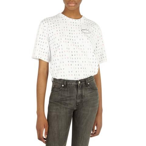 VICTORIA, VICTORIA BECKHAM White Wordsearch Organic Cotton T-Shirt