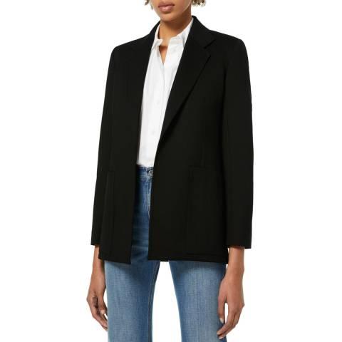 VICTORIA, VICTORIA BECKHAM Black Patch Pocket Jersey Jacket