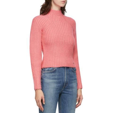 VICTORIA, VICTORIA BECKHAM Pink Bell Sleeve Jumper