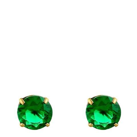 Liv Oliver Green Stud Earrings