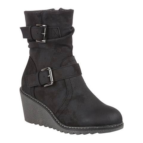 Lotus Black Pheobe Ankle Boots