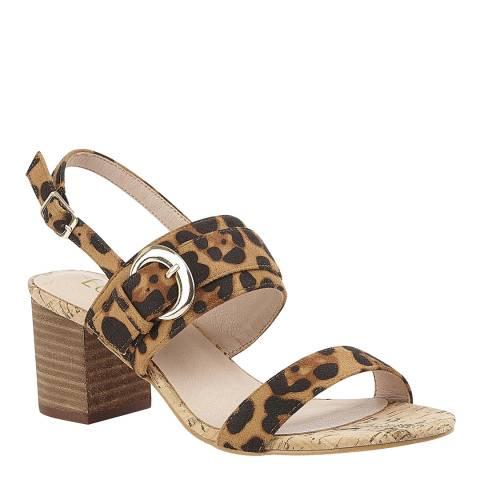 Lotus Multi Leopard Print Almaya Heeled Sandal