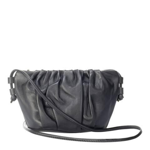 Giulia Massari Black Leather Crossbody Bag