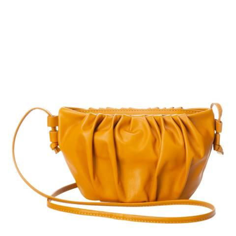 Giulia Massari Tan Leather Crossbody Bag