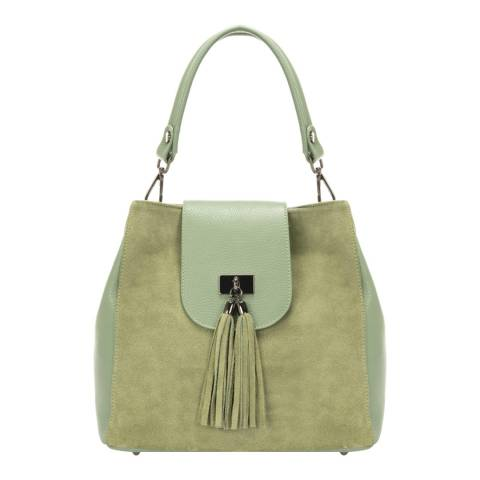 Lisa Minardi Green Leather Top Handle Bag