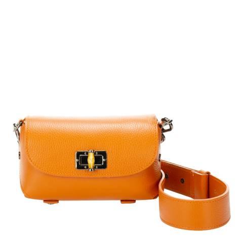 Lisa Minardi Orange Leather Crossbody Bag