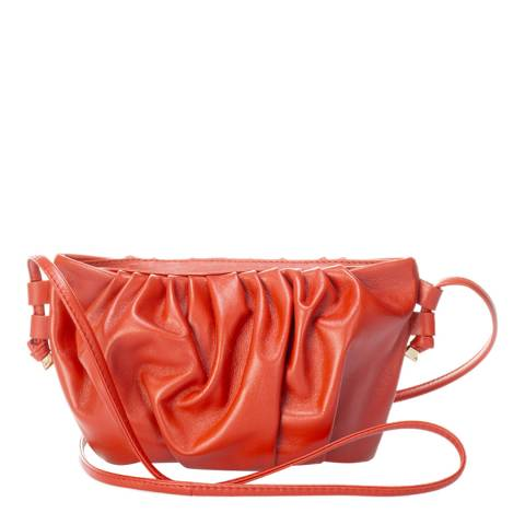 Giulia Massari Red Leather Crossbody Bag