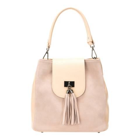 Lisa Minardi Rose Leather Top Handle Bag