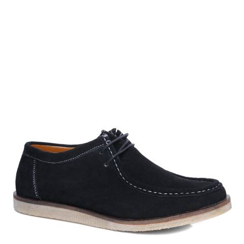 Silver Street Black Suede Sydney Casual Shoes