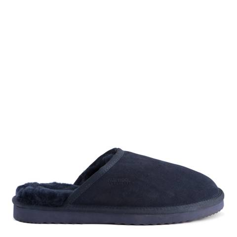 Aus Wooli Navy Manly Slippers