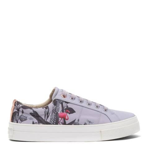 Ted Baker Grey Ephie Printed Trainers