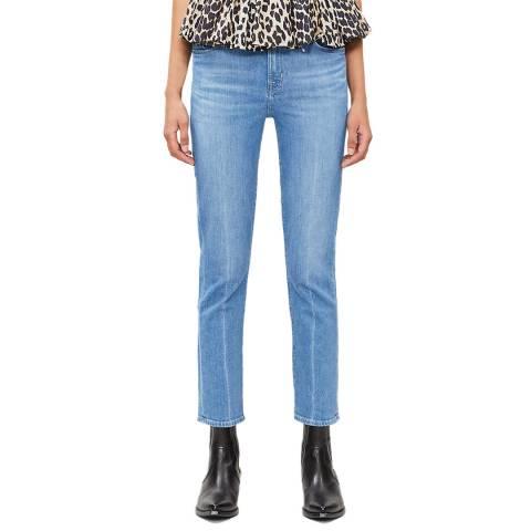 J Brand Blue Ruby High Rise Stretch Cigarette Jeans
