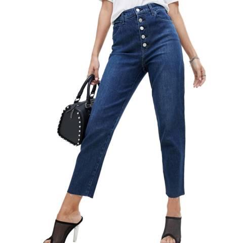 J Brand Blue Heather Button Fly Slim Stretch Jeans
