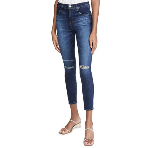 J Brand Blue Alana High Rise  Stretch Skinny Jeans
