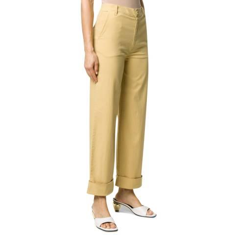 J Brand Yellow Ebbe Wide Leg Stretch Trousers