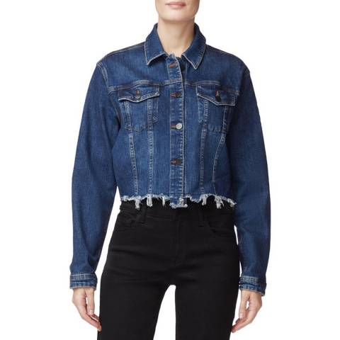 J Brand Dark Denim Cropped Cyra Jacket