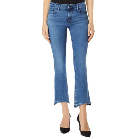 J Brand Blue Selena Mid Rise Crop Boot Jeans