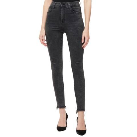 J Brand Black Leenah High Rise  Stretch Skinny Jeans