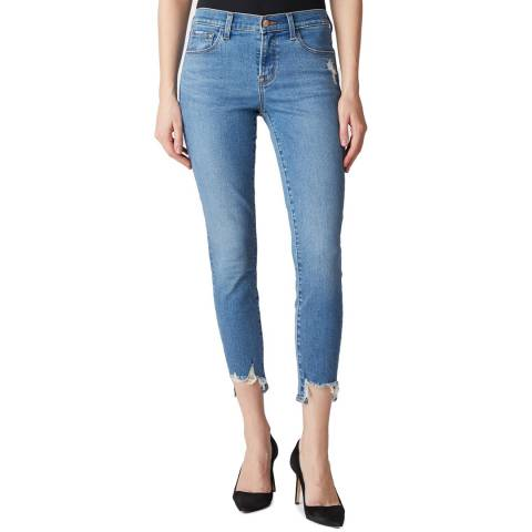 J Brand Blue 835 Mid Rise Crop Skinny Jeans