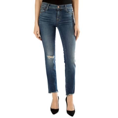 J Brand Blue Maude Mid Rise Slim Jeans