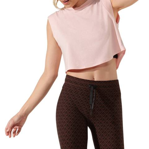 Lorna Jane Enchanted Pink Move Easy Cropped Tank