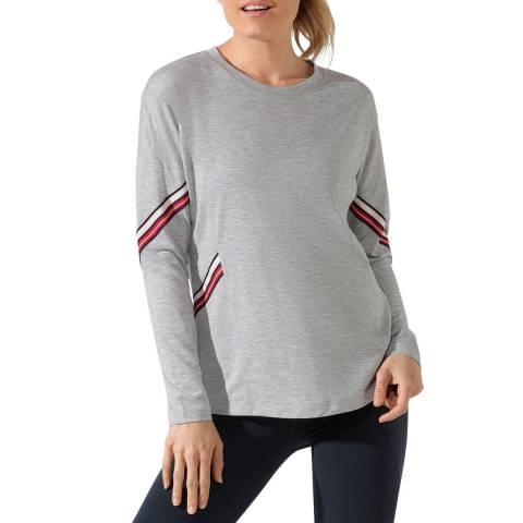 Lorna Jane Grey Marl Athleisure Long Sleeve Top