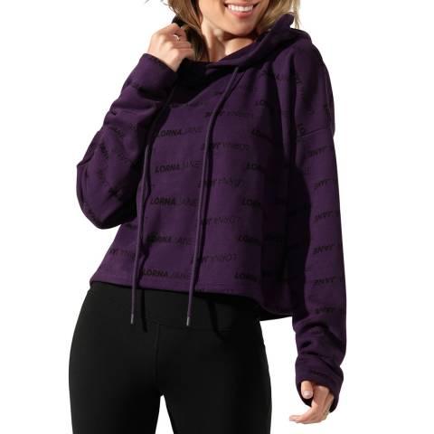 Lorna Jane Midnight Purple Iconic Cropped Hoodie