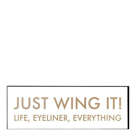 Hill Interiors Just Wing It Gold Foil Plaque