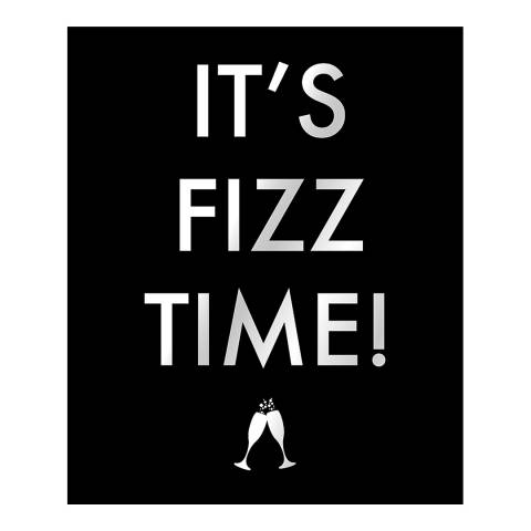 Hill Interiors Its Fizz Time Metallic Detail Plaque