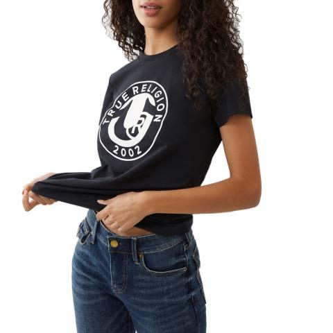True Religion Black Stamp Logo Cotton T-Shirt