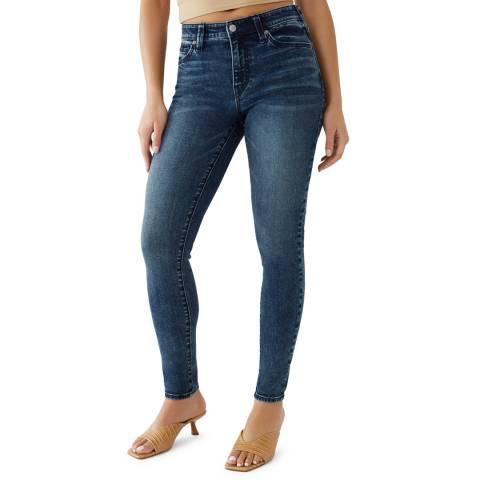True Religion Mid Blue Jennie Mid Rise Stretch Jeans