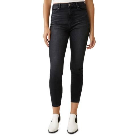 True Religion Black Caia Crop Stretch Jeans