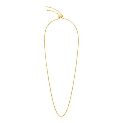 Calvin Klein Gold Side Long Necklace
