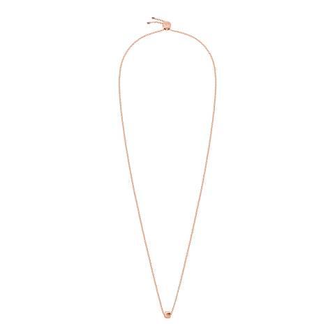 Calvin Klein Rose Gold Side Short Necklace