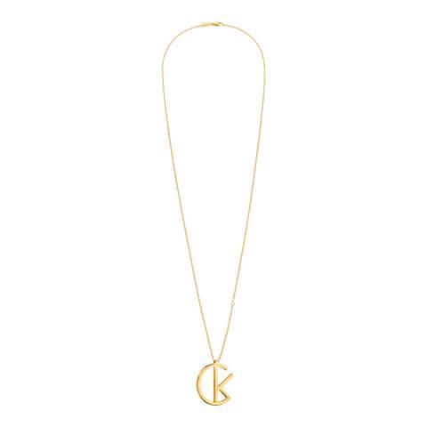 Calvin Klein Gold League Long Pendant Necklace
