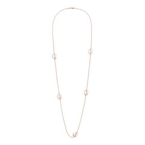 Calvin Klein Rose Gold League Long Necklace
