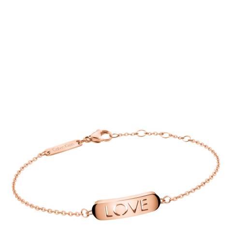 Calvin Klein Rose Gold Love Message Bracelet