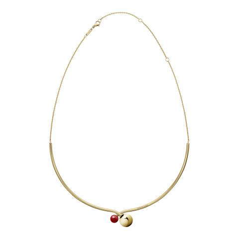 Calvin Klein Gold Red Bubbly Thin Choker