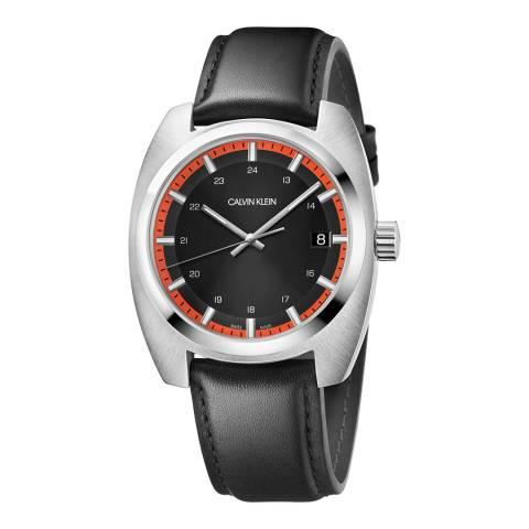 Calvin Klein Black Achieve Leather Watch