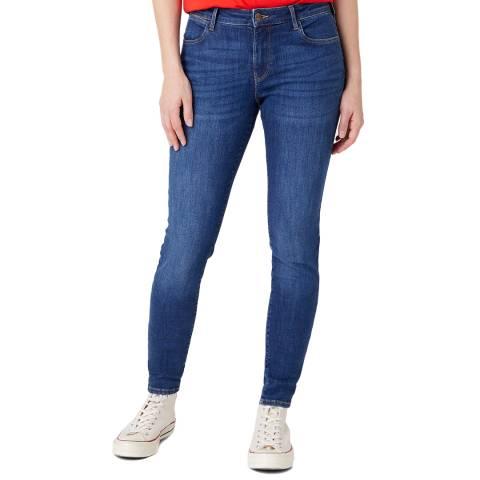 Wrangler Blue Skinny Fit Cotton Blend Jeans