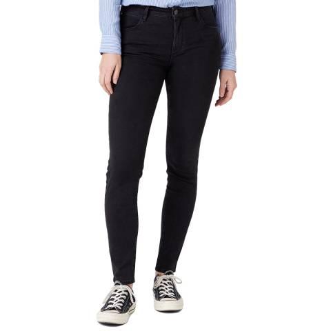 Wrangler Black Skinny Fit Cotton Blend Jeans