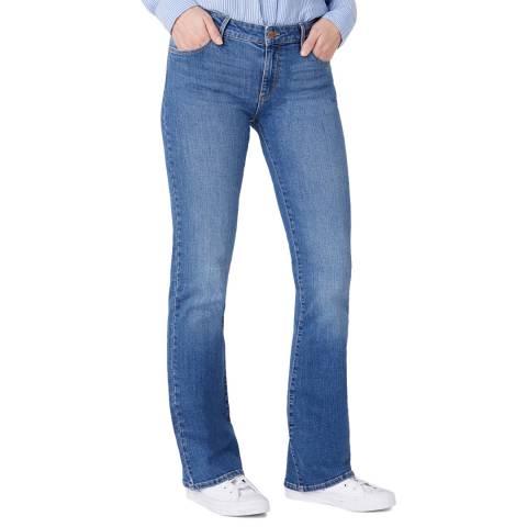 Wrangler Blue Cotton Bootcut  Jeans