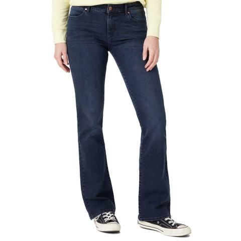 Wrangler Dark Indigo Cotton Bootcut Jeans