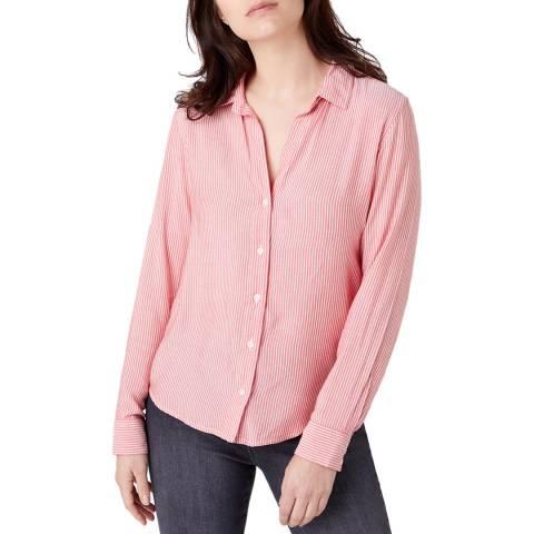 Wrangler Pink Blue Regular Fit Blouse