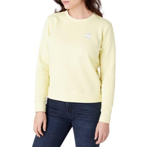 Wrangler Pale Yellow Regular Fit Cotton Sweatshirt
